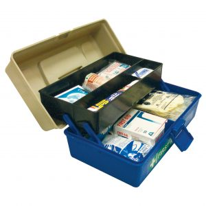 Work Vehicle First Aid Kit, Large, Complete Set In Plastic Case