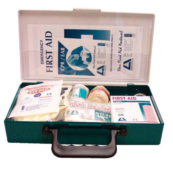 Work Vehicle First Aid Kit, Small, Complete Set In Plastic Case