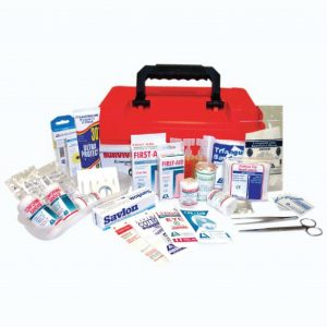 Marine First Aid Kit, Complete Set In Plastic Case