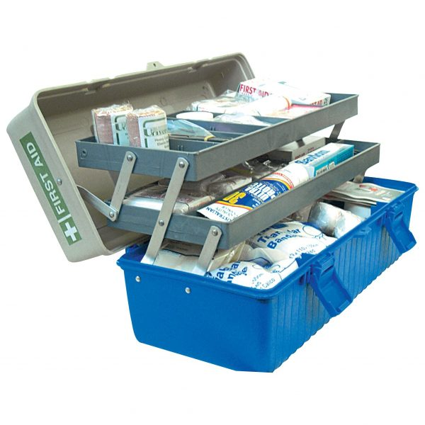 Sports First Aid Kit, Large, Complete Set In Plastic Case