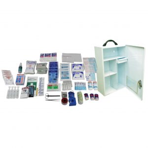 Standard Workplace First Aid Kit, Medium, Complete Set In 2-Way Metal Case
