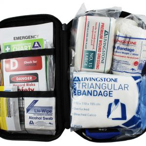 Everyday Use First Aid Kit, Complete Set In Blue Oxford Cloth Pouch