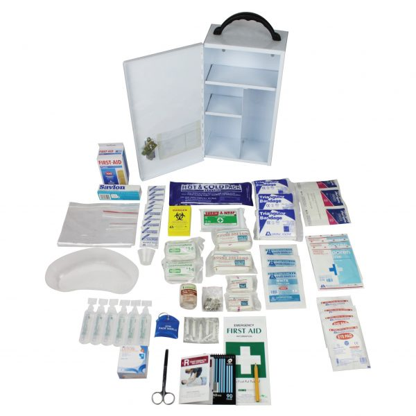 Queensland Low Risk First Aid Kit, Complete Set In Metal Case, for 1-25 people