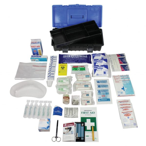 Queensland Low Risk First Aid Kit, Complete Set In Plastic Case, for 1-25 people