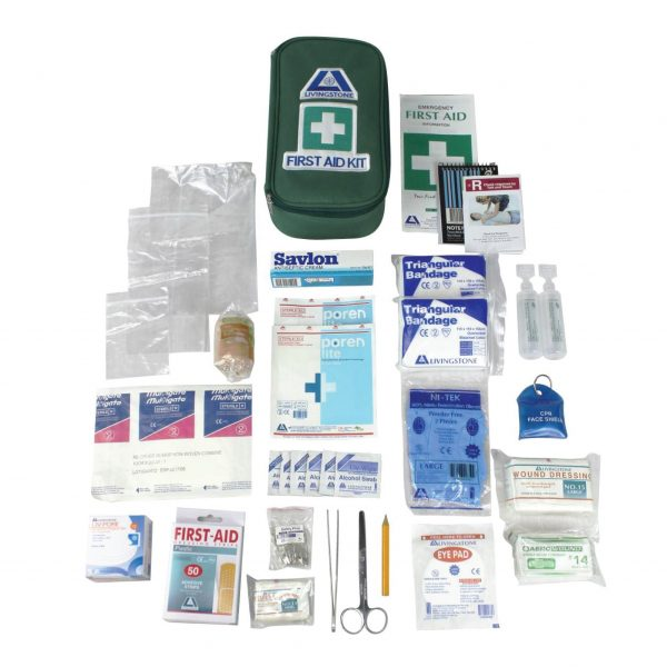 Victoria Micro First Aid Kit, Complete Set In Green Pouch