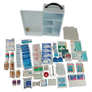 Victoria Standard First Aid Kit, Complete Set In Wall Mountable Metal Case