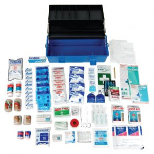 Victoria Standard First Aid Kit, Complete Set In Plastic Case